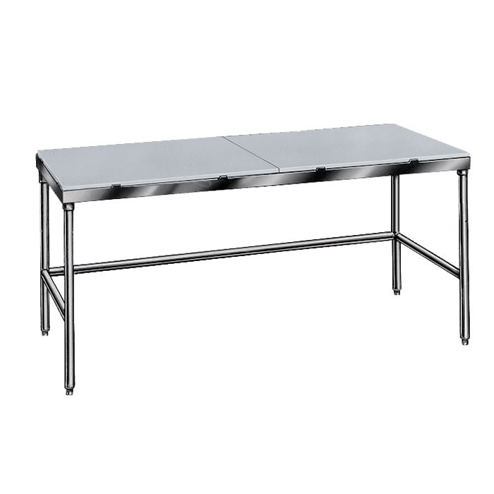 "Advance Tabco TSPT-248 96"" Poly Top Work Table w/  5/8"" Top, Stainless Base, 24""D"