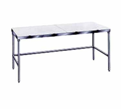 Advance Tabco TSPT-249 24 x 108 in L Table 5/8 in Poly-Vance Top w/o Splash SS Legs & Crossrails Restaurant Supply