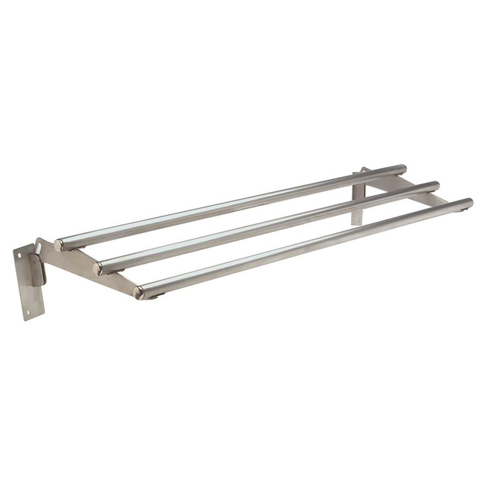 """Advance Tabco TTR-5D Drop-Down Tubular Tray Slide, 77-9/12"""", Stainless"""
