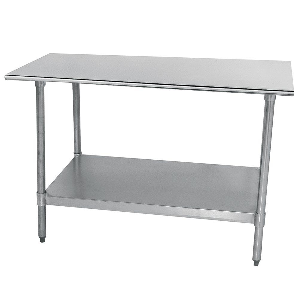 "Advance Tabco TTS-246 72"" 18-ga Work Table w/ Undershelf & 304-Series Stainless Flat Top"