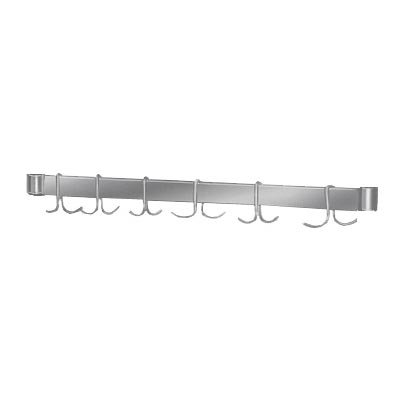 "Advance Tabco UB30 22.25"" Leg-Mount Pot Rack w/ (6) Double Hooks for 30"" Tables, Stainless Steel"