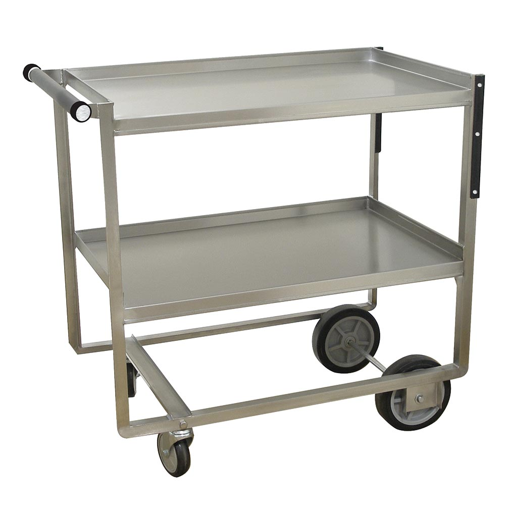 Advance Tabco UCS-1 2-Level Stainless Utility Cart w/ 700-lb Capacity, Raised Ledges
