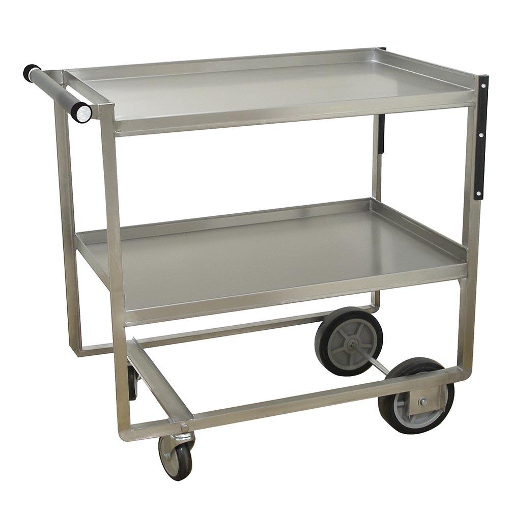 Advance Tabco UCS-1 2-Level Stainless Utility Cart w/ 700-lb Capacity, Raised Ledges
