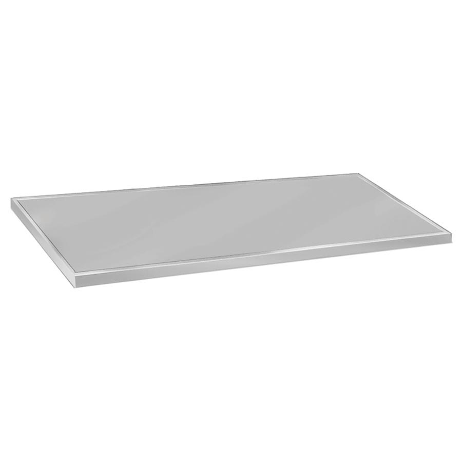 "Advance Tabco VCTC-248 Flat Countertop - 25x96"", 16-ga 304-Stainless, Satin Finish"