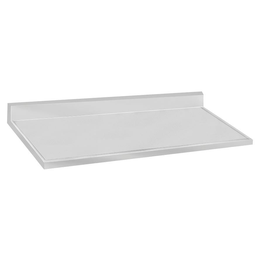 "Advance Tabco VCTF-247 Countertop - 5"" Backsplash, 25x84"", 16-ga 304-Stainless, Satin Finish"