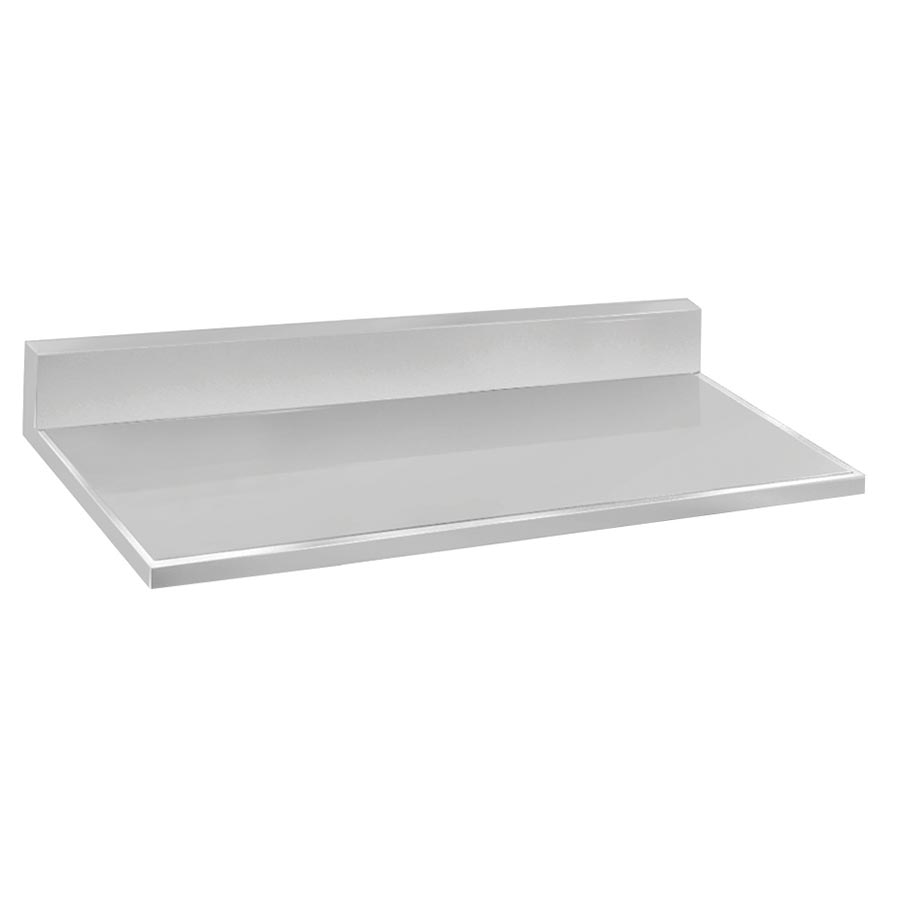"Advance Tabco VKCT-2410 Countertop - 10"" Backsplash, 25x120"", 16-ga 304-Stainless, Satin Finish"