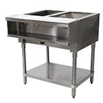 "Advance Tabco WB-2G-LP Water Bath Hot Food Table, 31-13/16"", Open Base w/ Undershelf, LP"