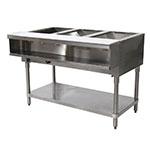 "Advance Tabco WB-3G-NAT-X Water Bath Hot Food Table, 47-1/8"", Open Base w/ Undershelf, NG"