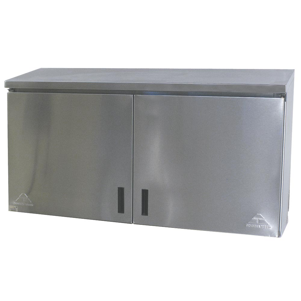 """Advance Tabco WCH-15-36 36"""" Stainless Wall Mount Cabinet - Hinged Doors, Shelf"""