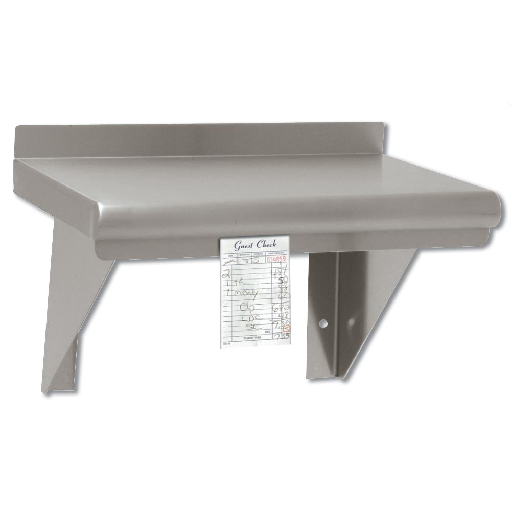 "Advance Tabco WS-12-96CM Shelf - Wall Mount with Check Minder, 12x96"" Stainless"