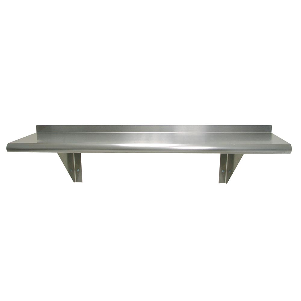 "Advance Tabco WS-15-144 Wall Mount Shelf - 15x144"", 18-ga 430-Stainless"