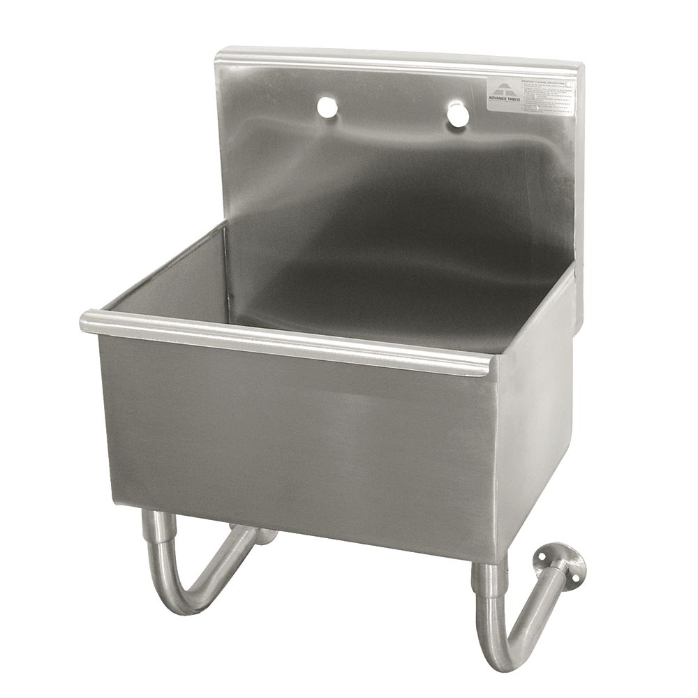 "Advance Tabco WSS-16-25 Wall Mount Commercial Hand Sink w/ 22""L x 16""W x 12""D Bowl, Basket Drain"