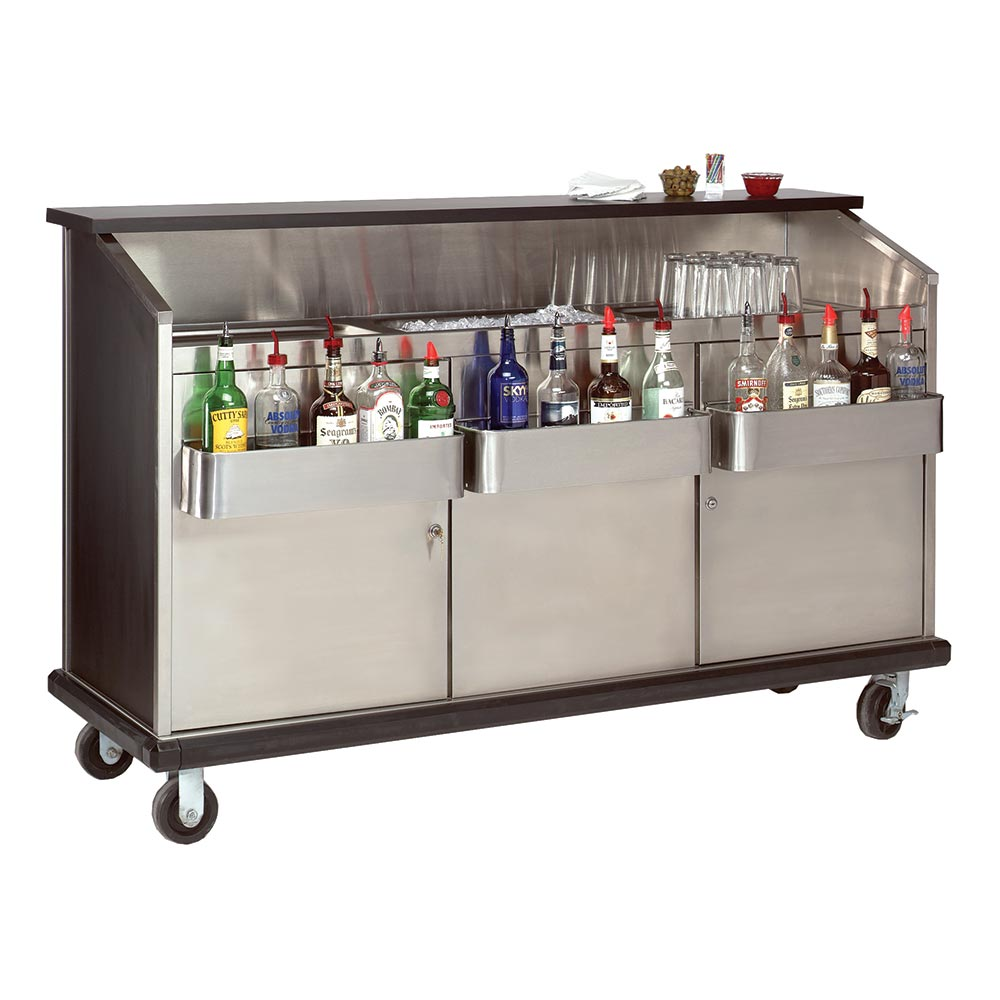 "Advance Tabco AMD-5B 60"" Portable Bar w/ Enclosed Storage, Workboard & Ice Bin"