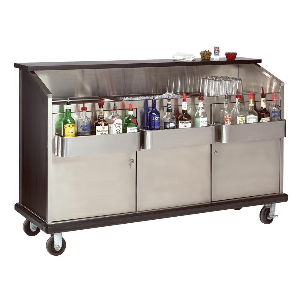 "Advance Tabco AMD-6B 72"" Portable Bar w/ Enclosed Storage, Workboard & Ice Bin"