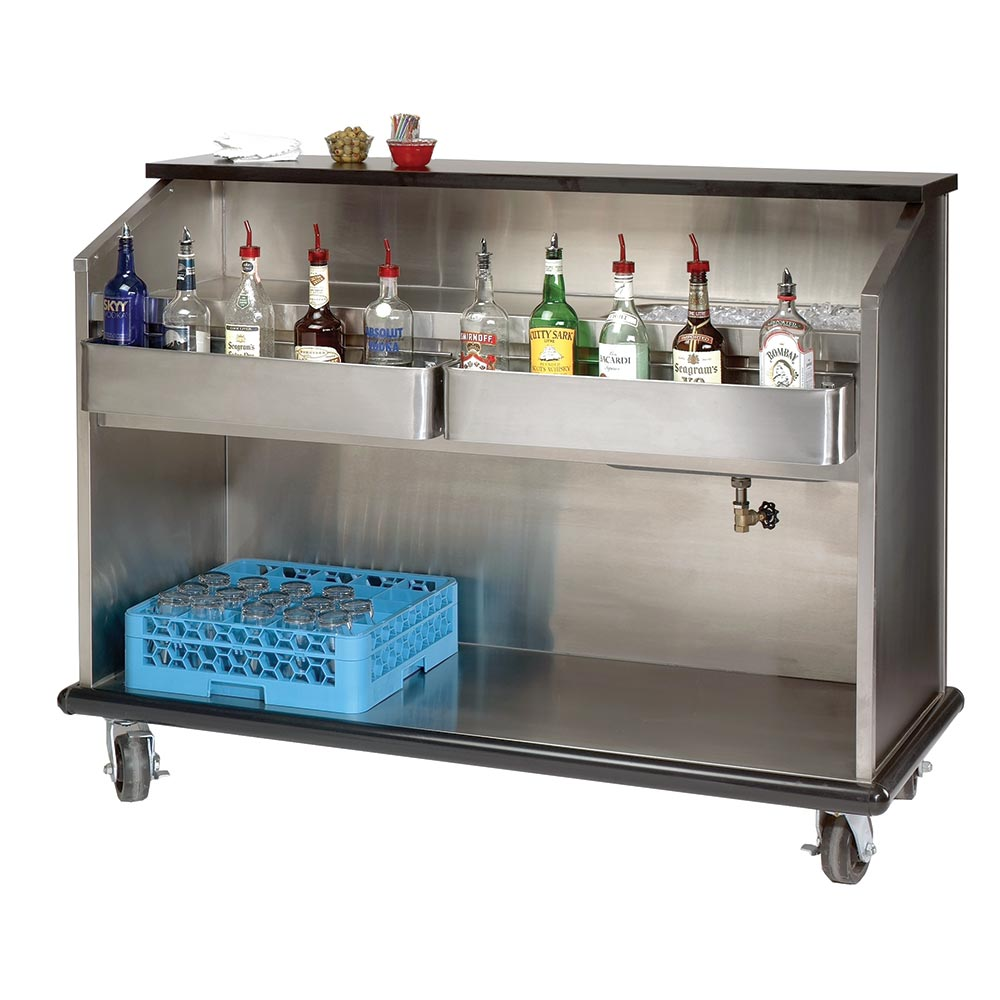 "Advance Tabco AMS-5B Ambassador Series Portable Bar, 60""Long, Open Storage"