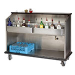 "Advance Tabco AMS-6B 72"" Portable Bar w/ Open Storage, Workboard & Ice Bin"