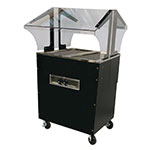 Advance Tabco B2-120-B-S-SB Portable Hot Food Buffet Table w/ Solid Base & 2-Stainless Wells, 120 V