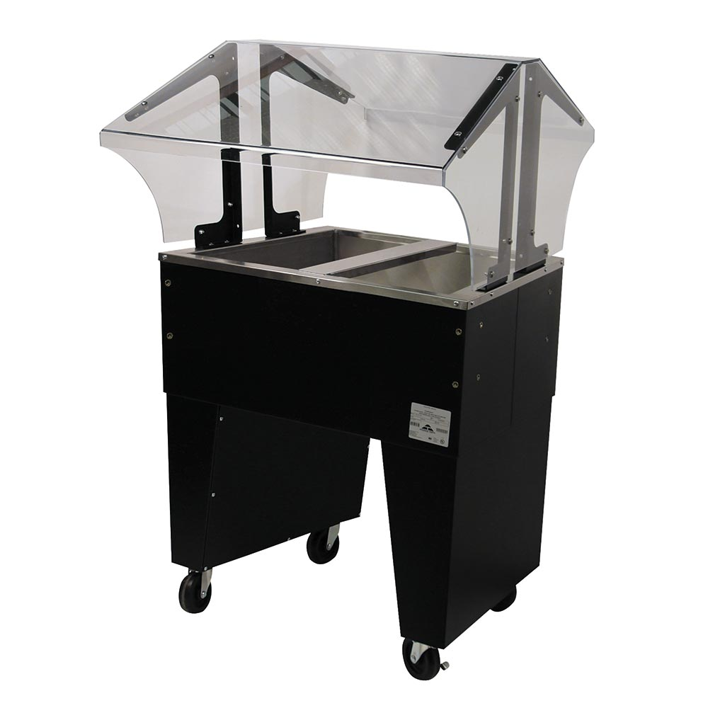 Advance Tabco B2-CPU-B Portable Cold Food Buffet Table w/ Open Base, 2-Pan Size, Ice Cooled