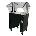 Advance Tabco B2-STU-B Portable Buffet Table w/ Solid Top & Open Base, 2-Pan Size