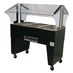 Advance Tabco B3-120-B-S Portable Hot Food Buffet Table w/ Open Base & 3-Stainless Wells, 120 V
