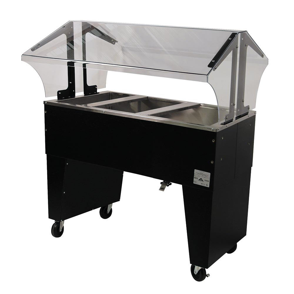 Advance Tabco B3-CPU-B-X Portable Cold Food Buffet Table w/ Open Base, 3-Pan Size, Ice Cooled
