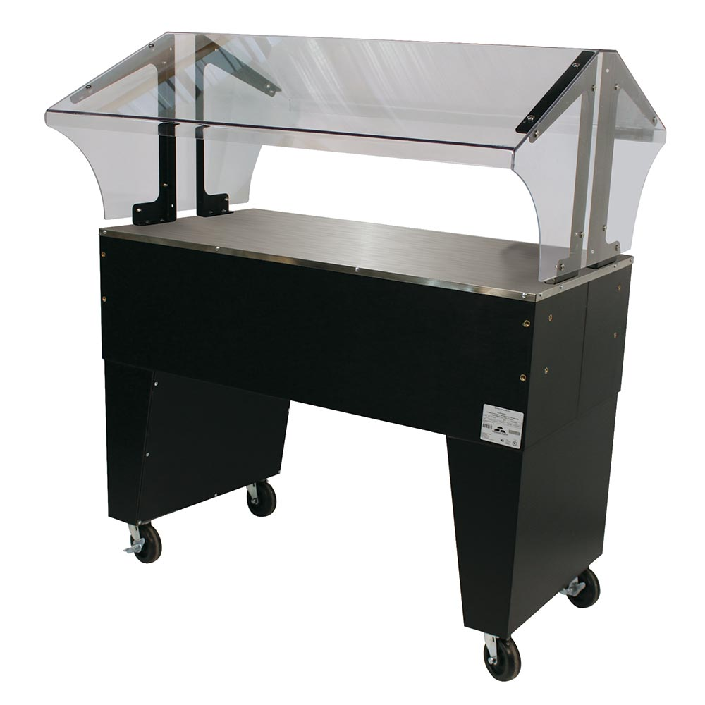 Advance Tabco B3-STU-B Portable Buffet Table w/ Solid Top & Open Base, 3-Pan Size