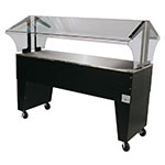 Advance Tabco B4-STU-B Portable Buffet Table w/ Solid Top & Open Base, 4-Pan Size
