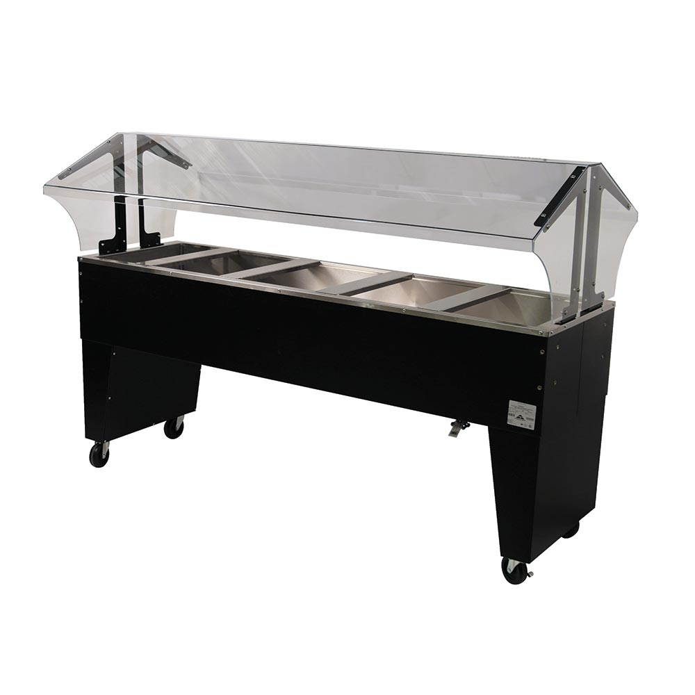 Advance Tabco B5-CPU-B Portable Cold Food Buffet Table w/ Open Base, 5-Pan Size, Ice Cooled