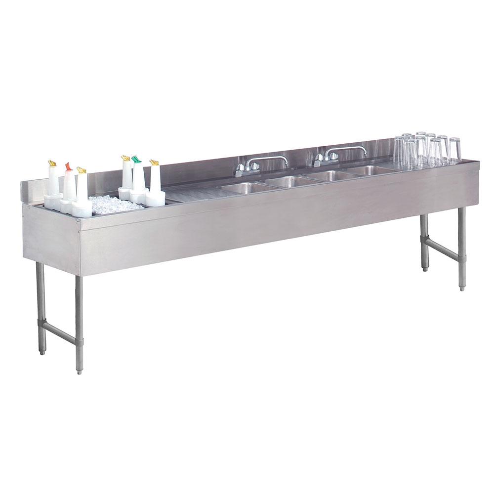 "Advance Tabco CRC-84C-L 96"" 4-Compartment Sink w/ 10""L x 14""W Bowl, 10"" Deep"