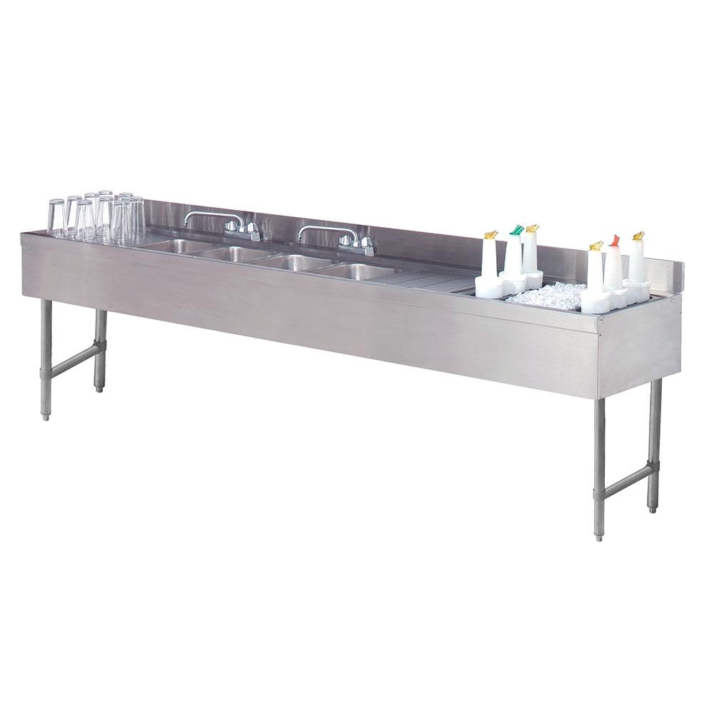 "Advance Tabco CRC-84C-R 96"" 4-Compartment Sink w/ 10""L x 14""W Bowl, 10"" Deep"