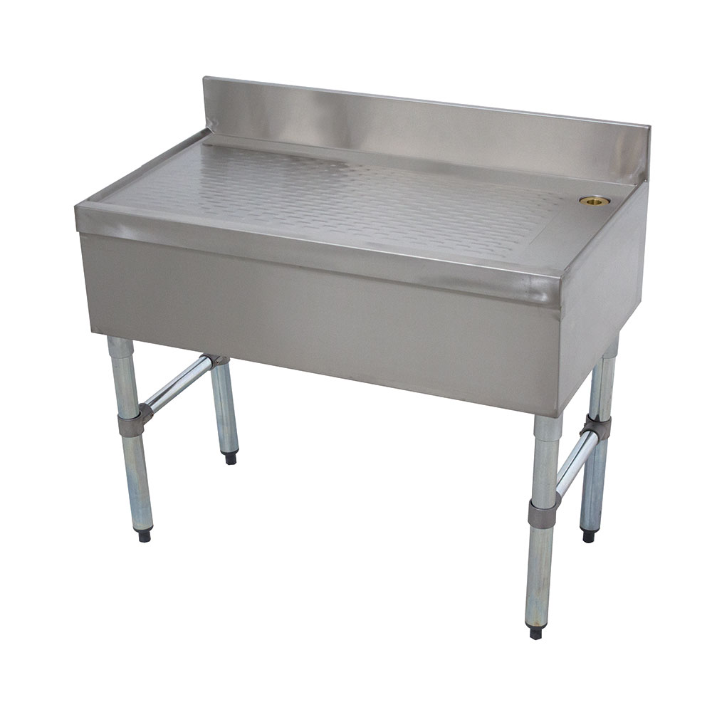 "Advance Tabco CRD-12-X 12"" Bar Type Modular Drainboard w/ 4"" Splash, Stainless"