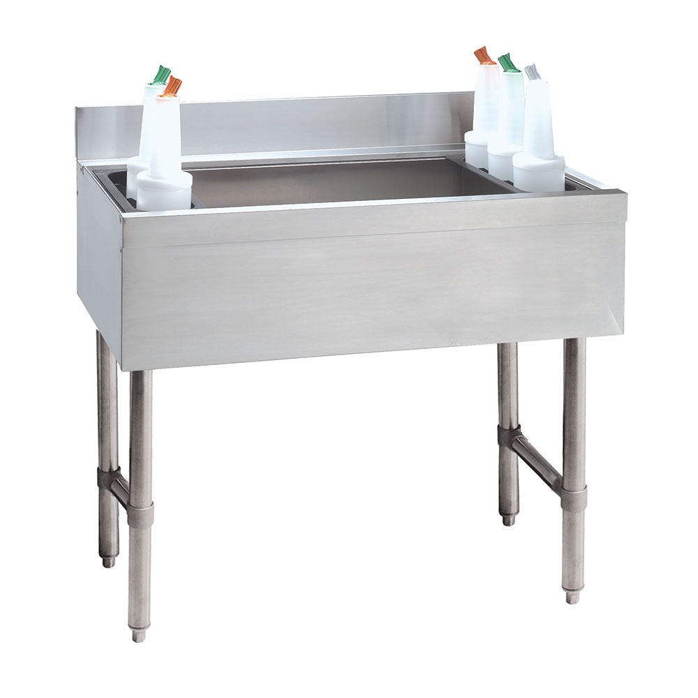"Advance Tabco CRI-12-36-X 36"" Cocktail Unit w/ 180-lb Ice Capacity & (2) 3-Pak Bottle Racks"