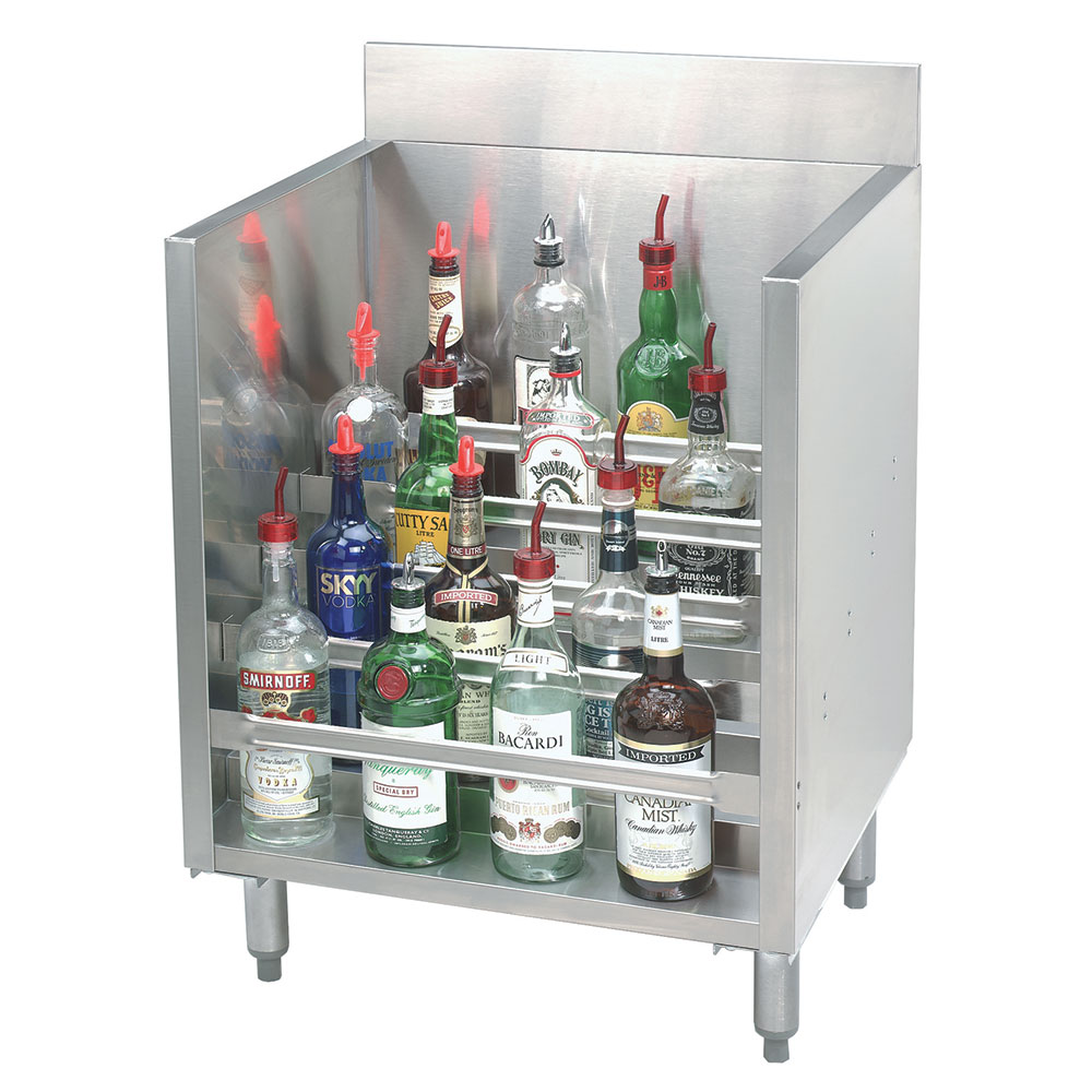 "Advance Tabco CRLR-12 12"" Liquor Display Rack w/ 5-Bottles Per Tiered Steps"