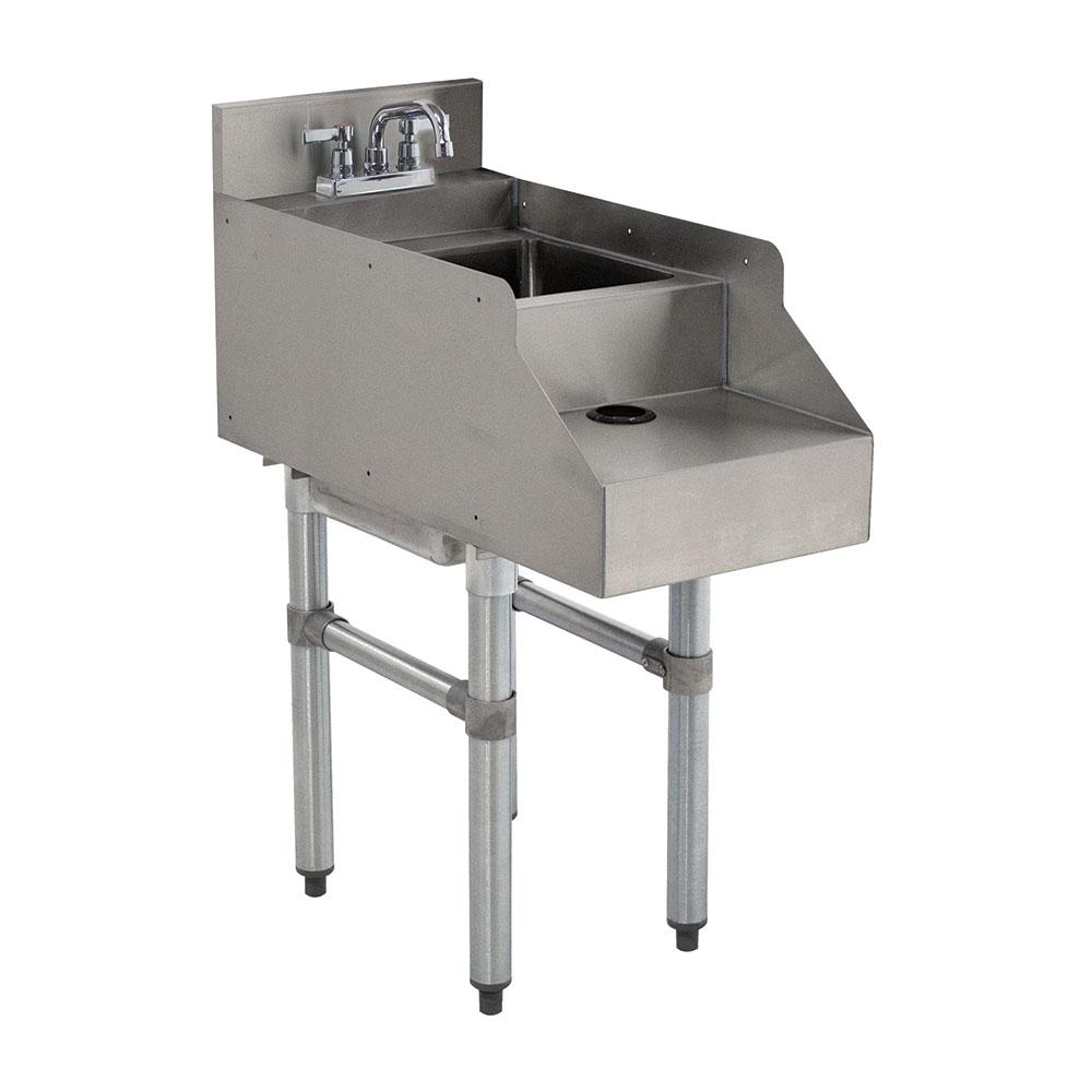 "Advance Tabco CR-RS-12-X 12"" Underbar Blender Recess Station w/ Dump Sink & Faucet"