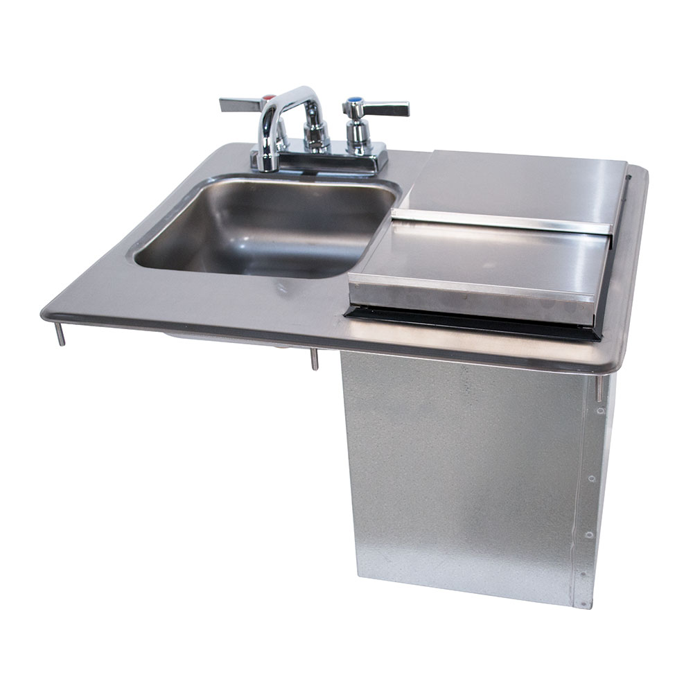 "Advance Tabco D-24-SIBL-X (1) Compartment Drop-in Sink w/Ice Bin - 9"" x 9"", Drain Included"