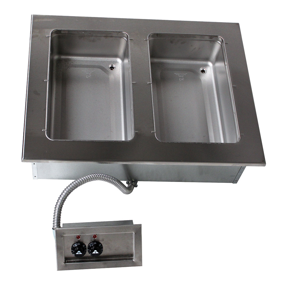 """Advance Tabco DISW-2-120 31-13/16"""" Drop-In Hot Food 2-Well Unit w/ Infinite Control, 120 V"""