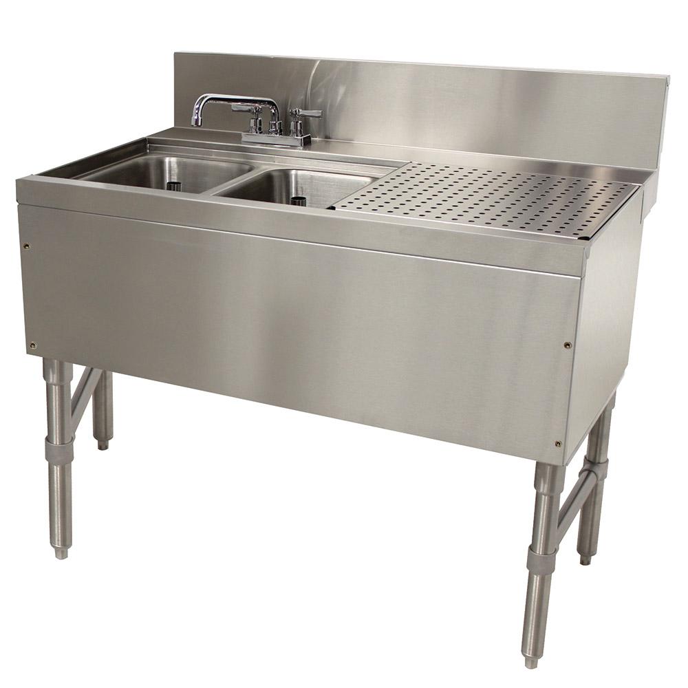 """Advance Tabco PRB-24-32L 36"""" 2-Compartment Sink w/ 10""""L x 14""""W Bowl, 10"""" Deep"""