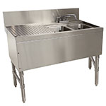 "Advance Tabco PRB-24-42R 48"" 2-Compartment Sink w/ 10""L x 14""W Bowl, 10"" Deep"