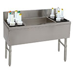 "Advance Tabco PRC-24-54LR-10 54"" Ice Chest w/ Left & Right Bottle Storage Rack, 24"" Front To Back"
