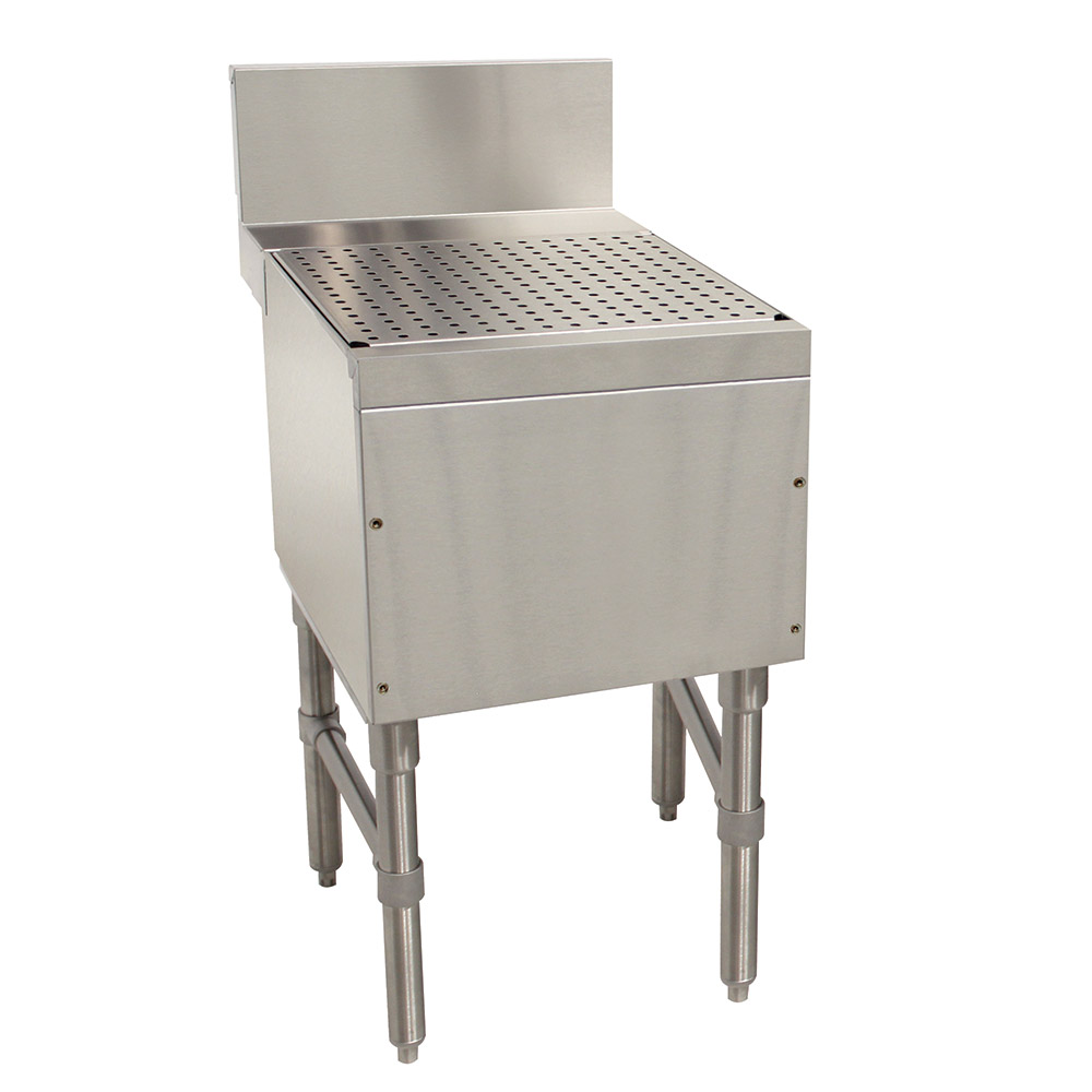 "Advance Tabco PRD-24-12 12"" Free Standing Drainboard w/ 1"" Drain, 24"" Front To Back"