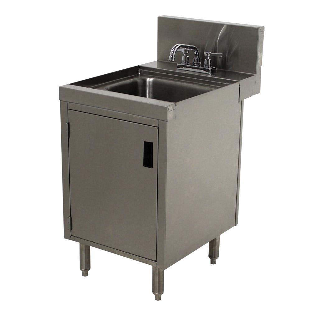 """Advance Tabco PRHSC-24-12 Cabinet Base Commercial Hand Sink w/ 14""""L x 10""""W x 10""""D Bowl, Standard Faucet"""
