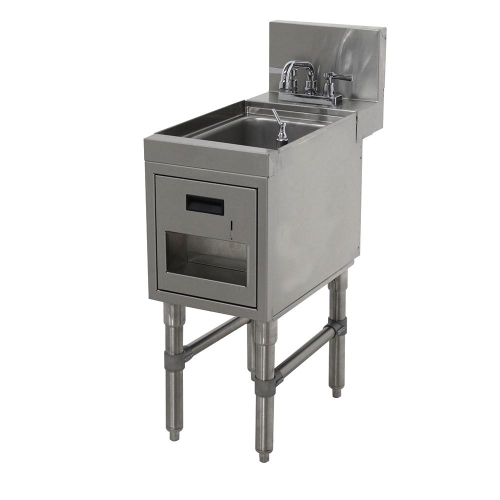 """Advance Tabco PRHSST-24-12 Commercial Hand Sink w/ 9""""L x 9""""W x 4""""D Bowl, Standard Faucet"""