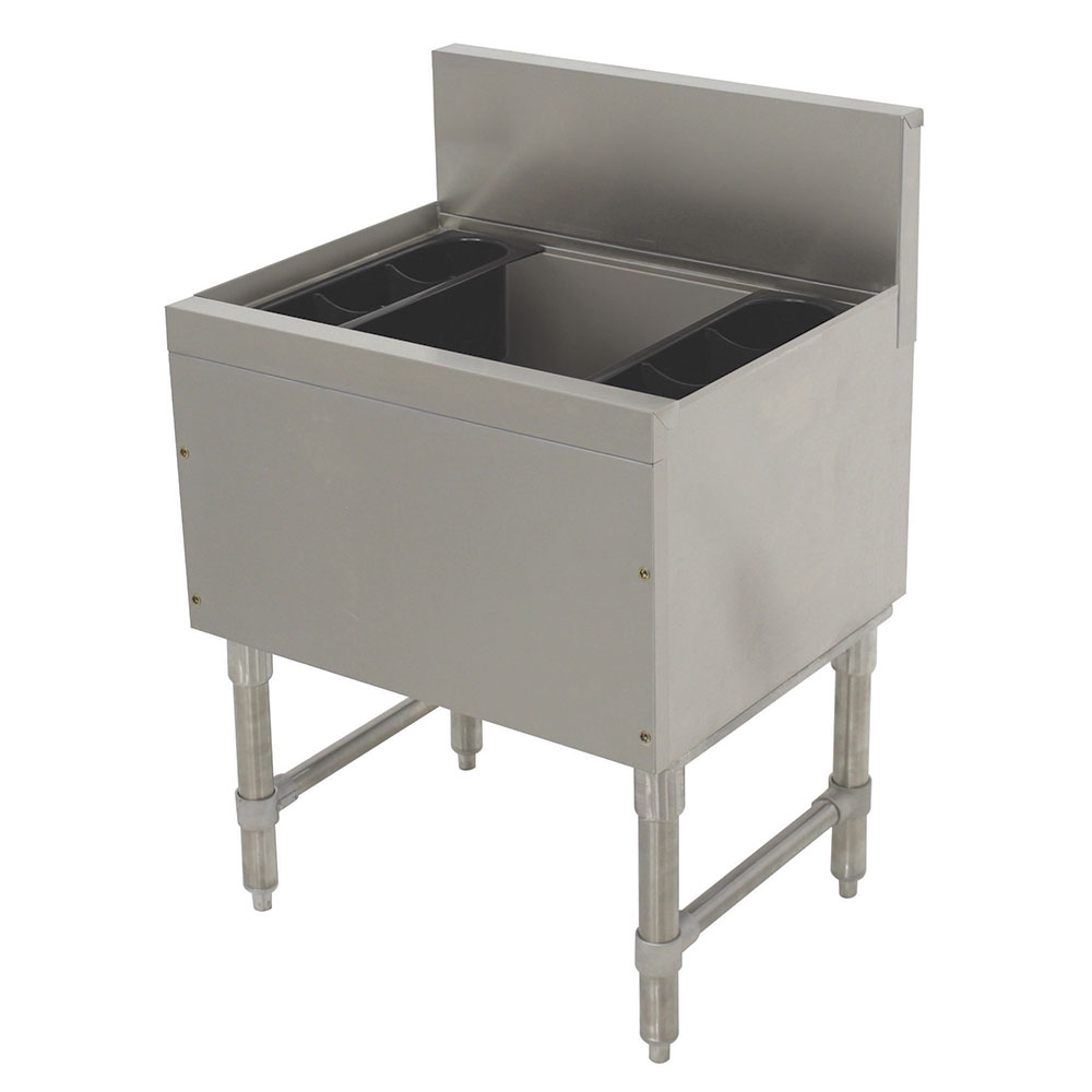 """Advance Tabco PRI-19-24-10-XD 24"""" Ice Chest w/ 15"""" Bin, Coldplate, 80-lb Ice, 19"""" Front To Back"""