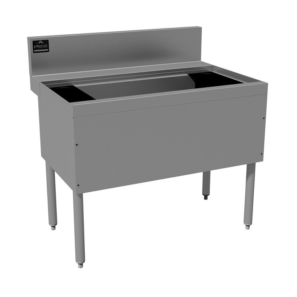 """Advance Tabco PRI-24-24-10-XD 24"""" Ice Chest w/ 15"""" Bin, Coldplate, 80-lb Ice, 24"""" Front To Back"""