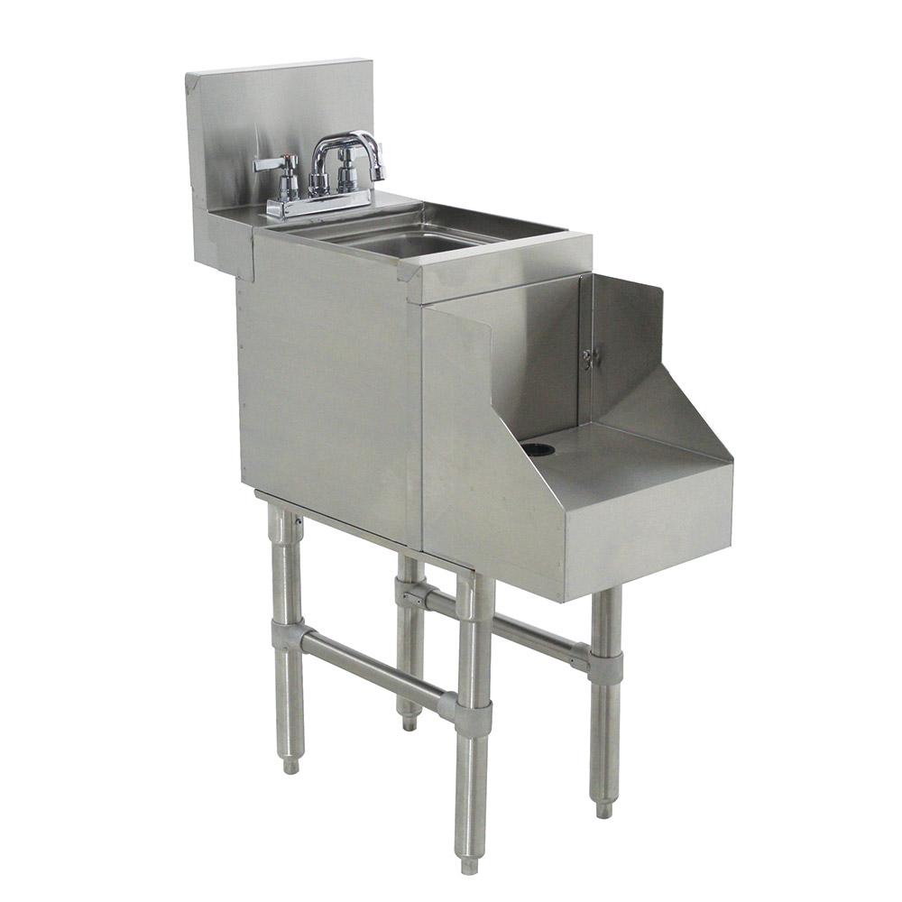 "Advance Tabco PRRS-24-12 12"" Blender Recess Station w/ Dump Sink, Deck Mount, 24"" Front To Back"