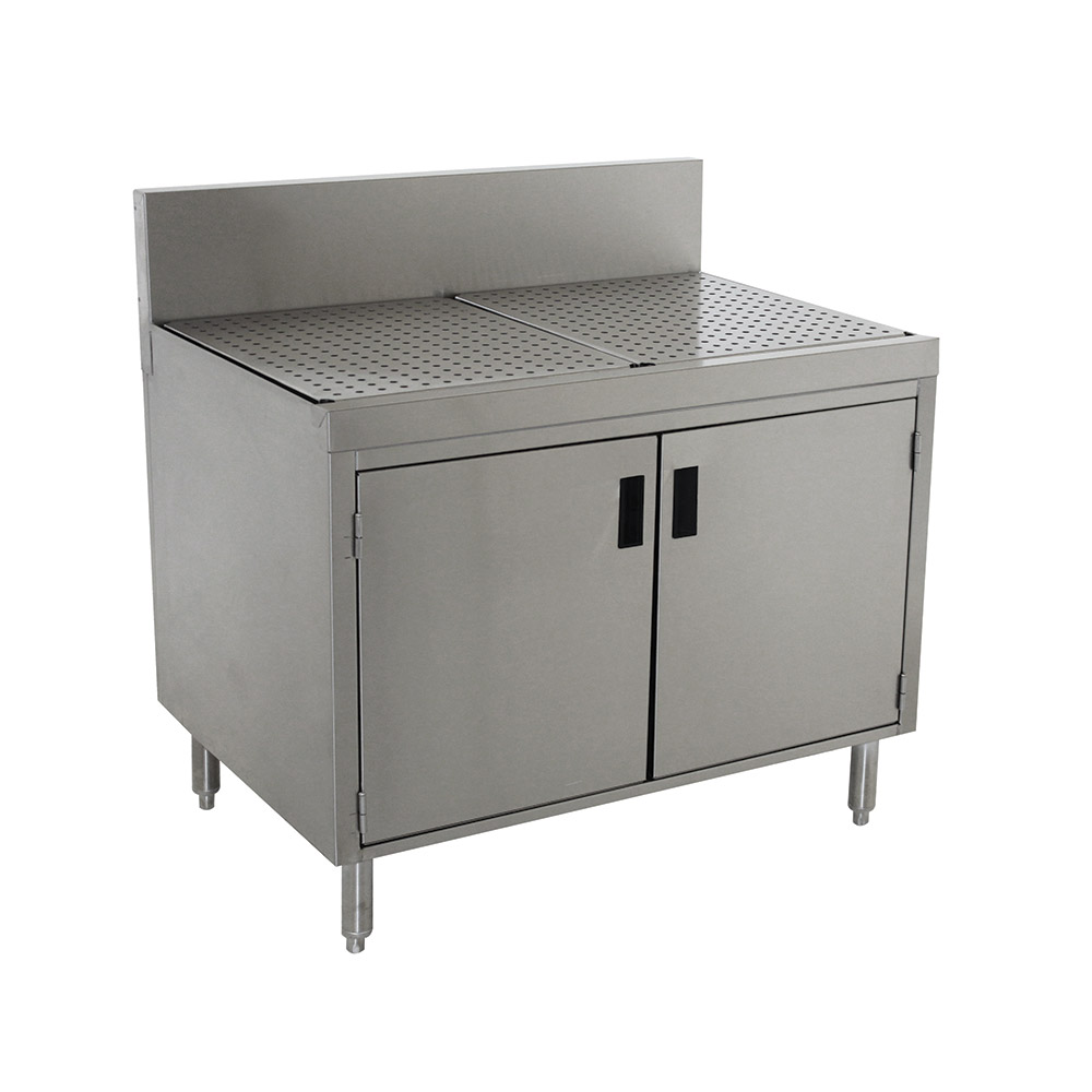 """Advance Tabco PRSCD-19-42 42"""" Stationary Storage Cabinet w/ Hinged Doors, 24"""" Front To Back"""