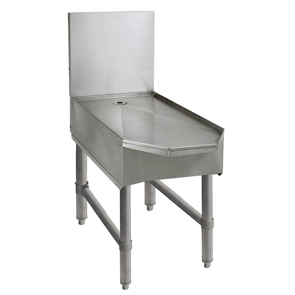 "Advance Tabco SCFD-18 18"" Slimline Frozen Drink Machine Stand w/ Beveled Front, Holds 1-Unit"