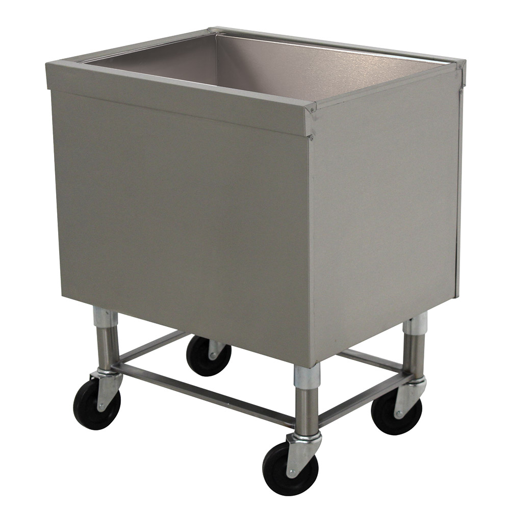 "Advance Tabco SCI-MIC-36 35"" Portable Ice Bin, Drain w/ Shut Off Valve"
