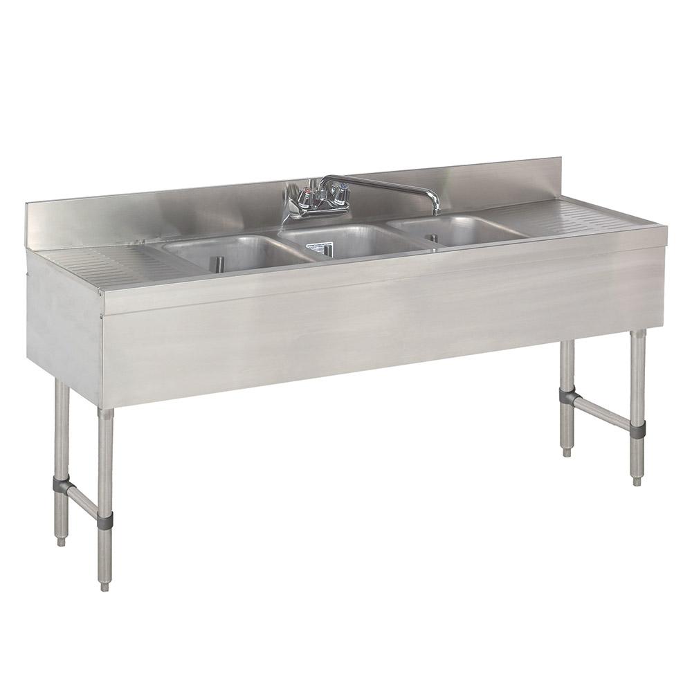 "Advance Tabco SLB-83C 96"" 3-Compartment Sink w/ 10""L x 14""W Bowl, 10"" Deep"