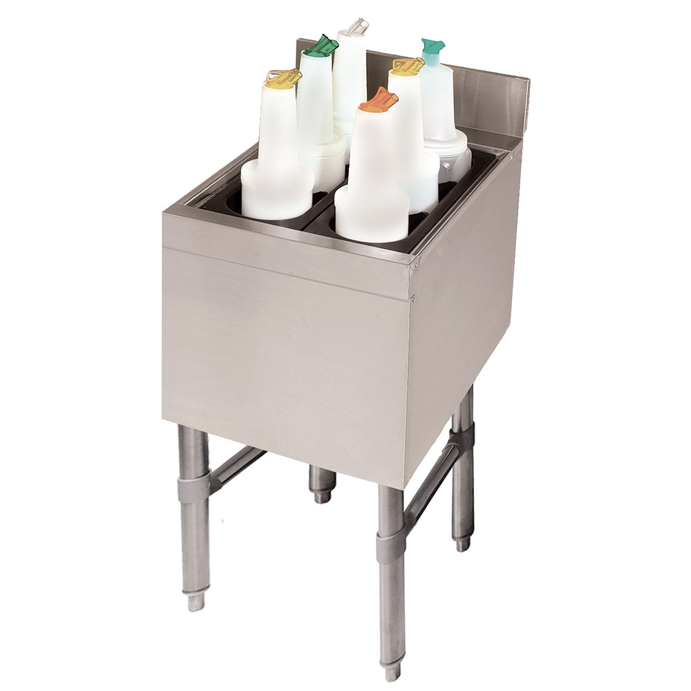 "Advance Tabco SLI-12-12-X 12"" Slimline Cocktail Unit w/ 12"" Chest, 35-lb Ice"